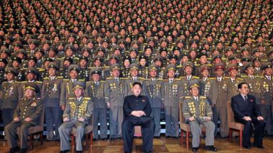 PHOTO: This undated picture released from North Koreas official Korean Central news Agency on Nov. 27, 2012 shows North Korean leader Kim Jong-Un during a photo session with participants in the national meeting of chiefs at an undisclosed location.