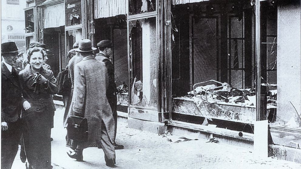 Marker group that is Jewish remembers Kristallnacht on anniversary