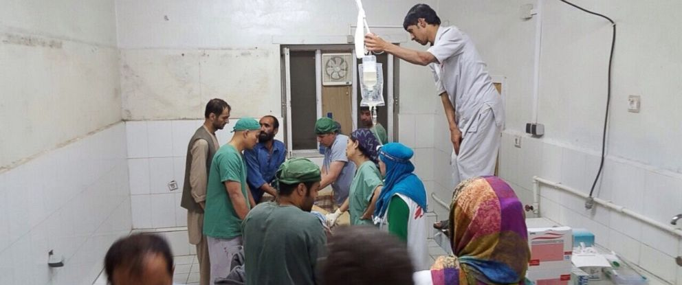 PHOTO: Doctors Without Borders staff are seen during a surgery after a US airstrike on MSF hospital in Kunduz, Afghanistan, Oct. 03, 2015.