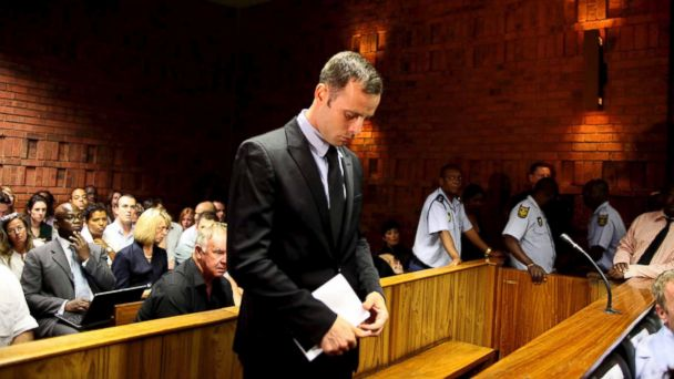 PHOTO: Oscar Pistorius at the Pretoria magistrates court on Feb. 20, 2013, in Pretoria, South Africa. Pistorius is accused of murdering his girlfriend, Reeva Steenkamp on Feb. 14, 2013.