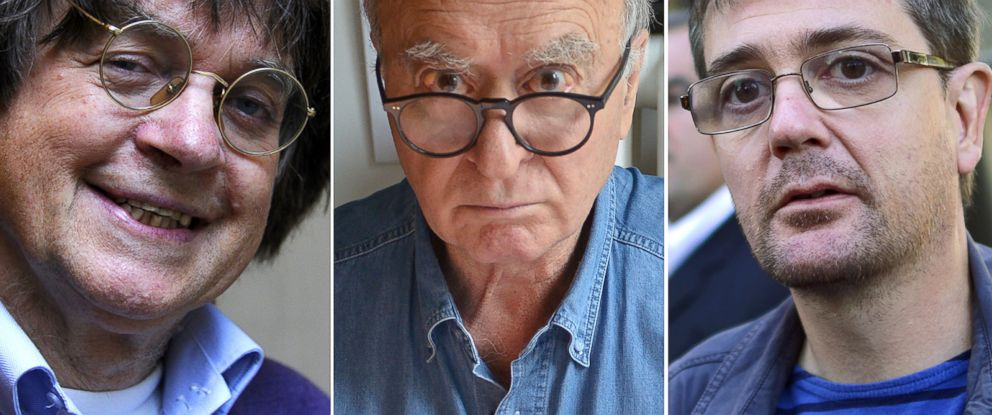 PHOTO: Jean Cabut, Georges Wolinski, and Stephane Charbonnier were victims of the attack on the Charlie Hebdo offices in Paris, Jan. 7, 2014.