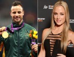 PHOTO: Gold medallist Oscar Pistorius of South Africa poses with his gold medal in London on Sept. 8, 2012.  Reeva Steenkamp attends the Virgin Active Sport Industry Awards 2013 held at Emperors Palace on Feb. 07, 2013 in Johannesburg, South Africa.
