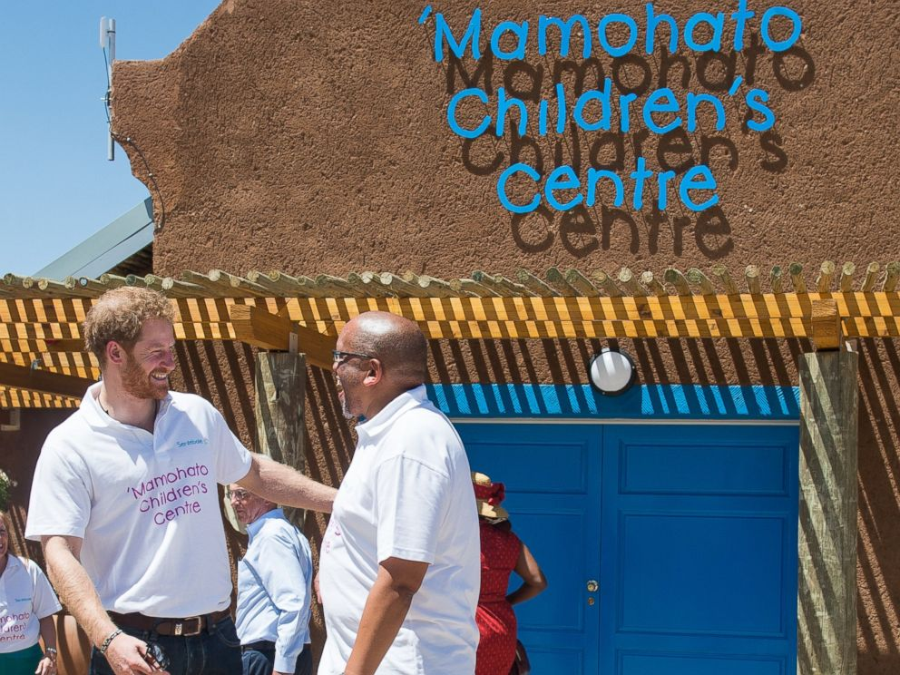 PHOTO: Prince Harry and Prince Seeiso of Lesotho attend the opening of Sentebales Mamohato Childrens Centre during an official visit to Africa on Nov. 26, 2015 in Maseru, Lesotho.