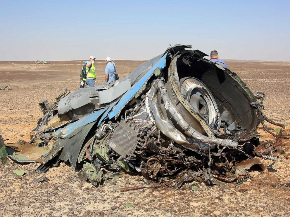 PHOTO: A Russian airliner with 224 people aboard crashed in Egypts Sinai Peninsula on Oct. 31, 2015.