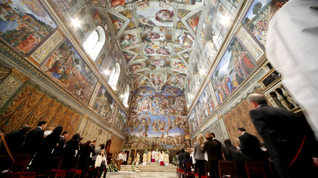 PHOTO: A general view of Michelangelos Sistine Chapel on January 11, 2009 in Vatican City, Vatican.