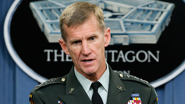 PHOTO: Commander of the International Security Assistance Force and Commander of U.S. Forces Afghanistan General Stanley McChrystal speaks during a news briefing at the Pentagon May 13, 2010 in Arlington, Va.