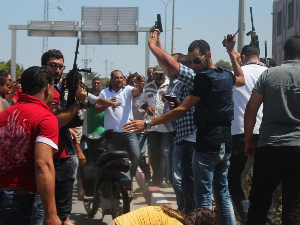PHOTO: Security measures are taken after an armed attack on a tourist hotel in Sousse, Tunisia, left at least 27 people dead, including foreigners, and injured six others , on June 26, 2015.