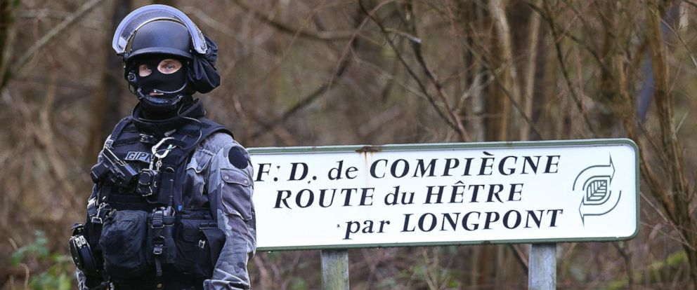 PHOTO French National Police Near Villers Cotterets North East Of Paris