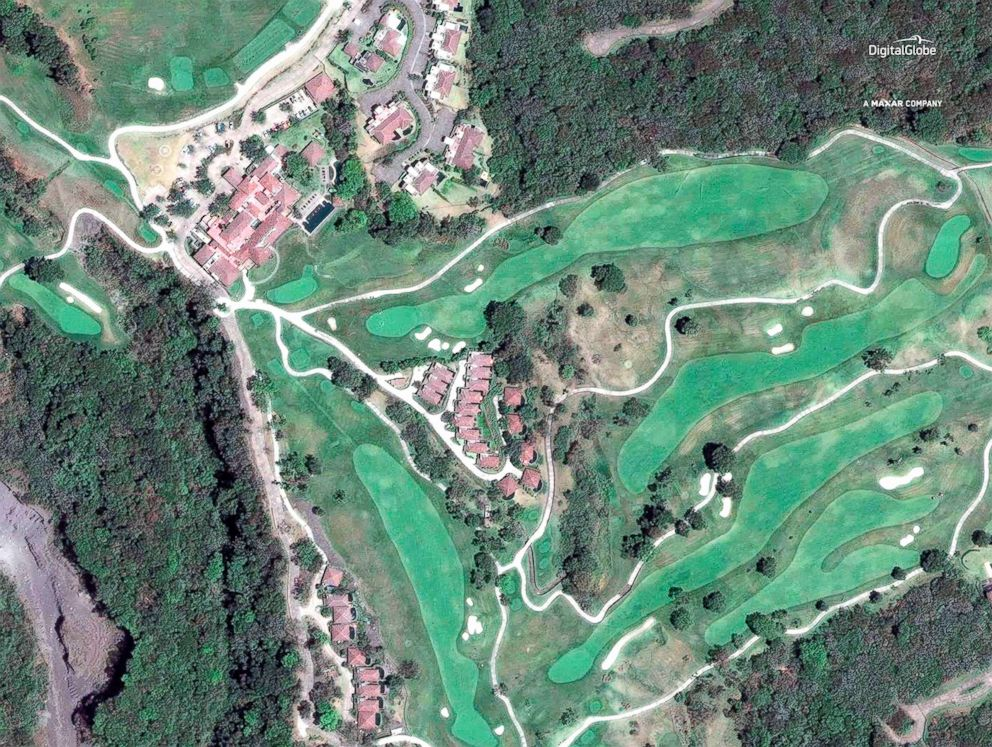 PHOTO: A satellite image of La Reunion Golf Resort, April 7, 2017, in Escuintla, Guatemala.