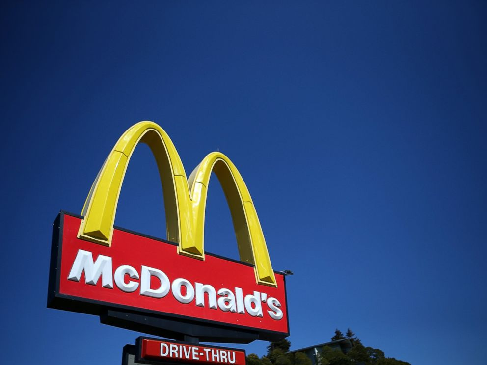 PHOTO: A sign is posted in front of a McDonalds restaurant in this March 12, 2013 file photo take in Mill Valley, California.