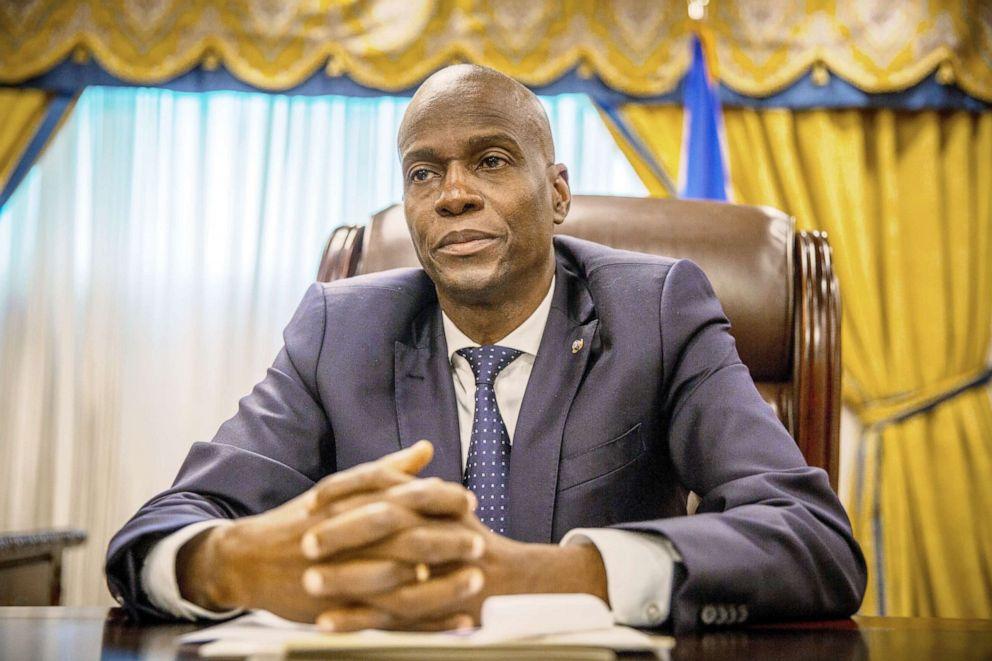 PHOTO: Jovenel Moise, Haiti's president, listens during an interview in Port-Au-Prince, Haiti, Jan. 29, 2018.