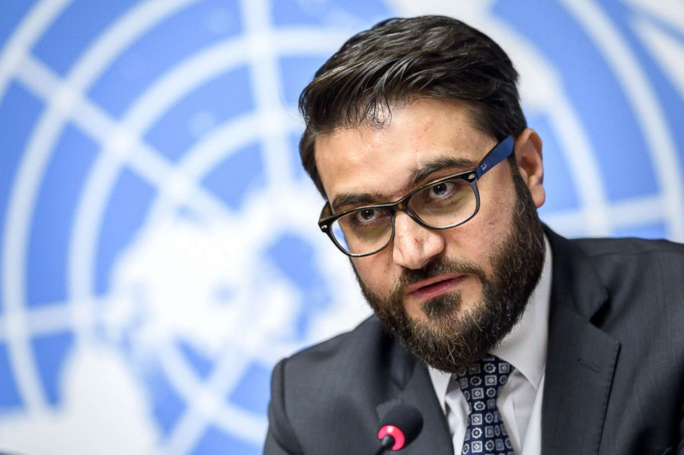 PHOTO: Afghanistans National Security Adviser Hamdullah Mohib attends a press conference closing a two-day United Nations Conference on Afghanistan in Geneva, Nov. 28, 2018.