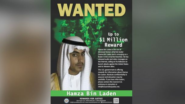 US offers $1 million reward for Osama bin Laden's son, Hazma, as emerging al-Qaida leader