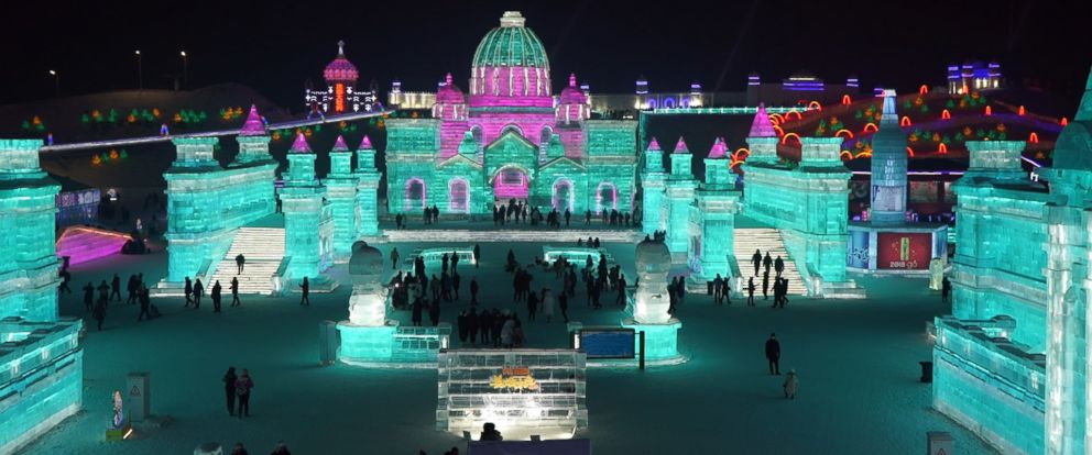 """PHOTO: ABC News """"Frozen Kingdom"""" takes you to the magical world of the Harbin International Ice and Snow Festival in China."""