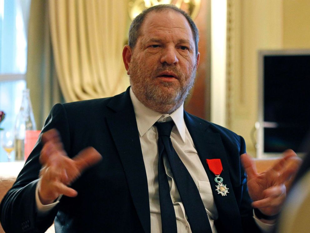 PHOTO: In this March 7, 2012 file photo, U.S film producer and movie studio chairman Harvey Weinstein during an interview with the Associated Press in Paris, the same day as Weinstein received, Chevalier of the Legion of Honor.