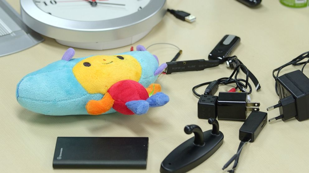 PHOTO: Hidden cameras can be anywhere from a stuffed doll to a phone charger.