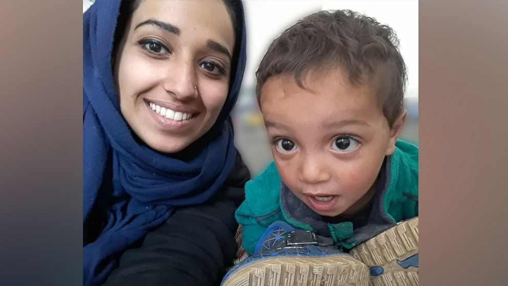 Hoda Muthana is pictured with her 18-month-old son. She left Alabama four years at the age of 19 to marry an ISIS fighter. Now, she wants to return to the U.S.