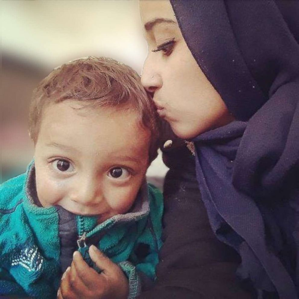PHOTO: Hoda Muthana is pictured with her 18-month-old son. She left Alabama four years at the age of 19 to marry an ISIS fighter. Now, she wants to return to the U.S.