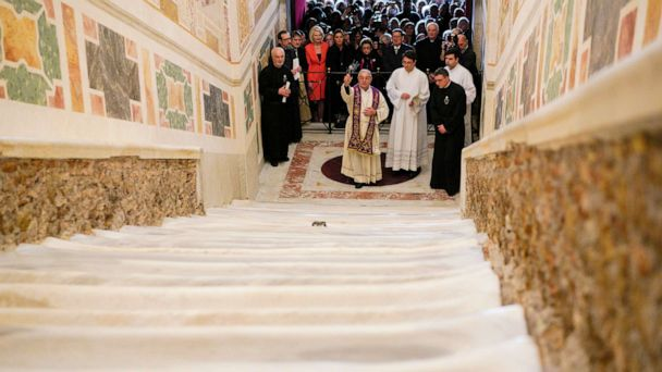Holy Stairs, believed to have been climbed by Jesus prior to crucifixion, unveiled in Rome