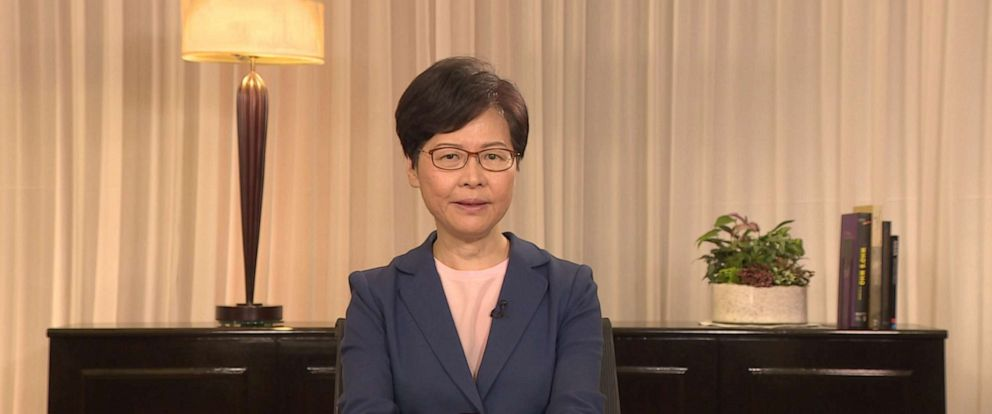 PHOTO: Hong Kong Chief Executive Carrie Lam on Sep 4, 2019, announced the withdrawal of a contentious extradition bill that spurred more than three months of violent protest in the city.