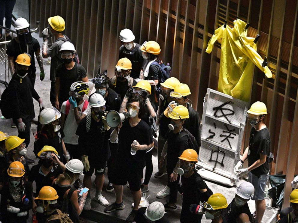 PHOTO: Protesters break into the government headquarters in Hong Kong on July 1, 2019.