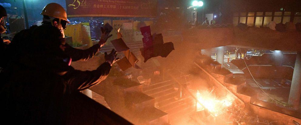 Image result for hong kong polytechnic university riot