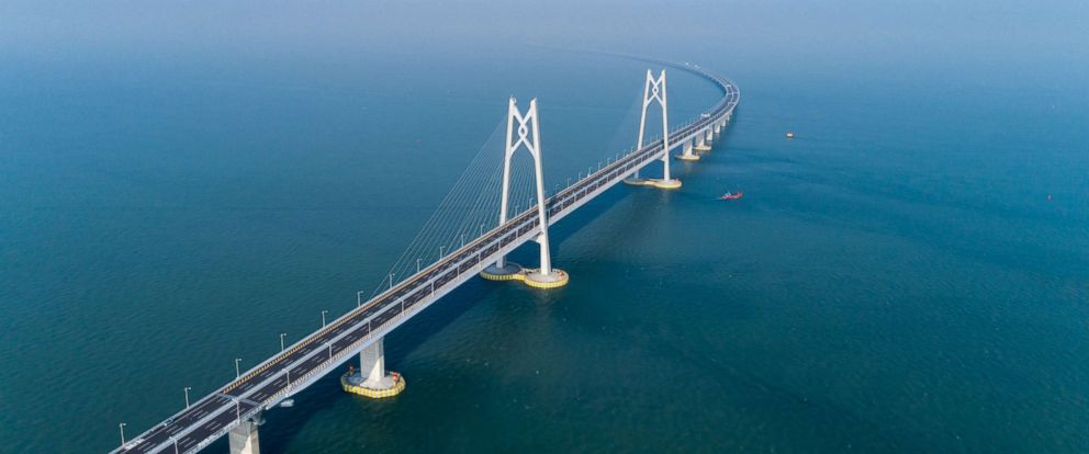 world s longest sea bridge to open after 9 years of construction