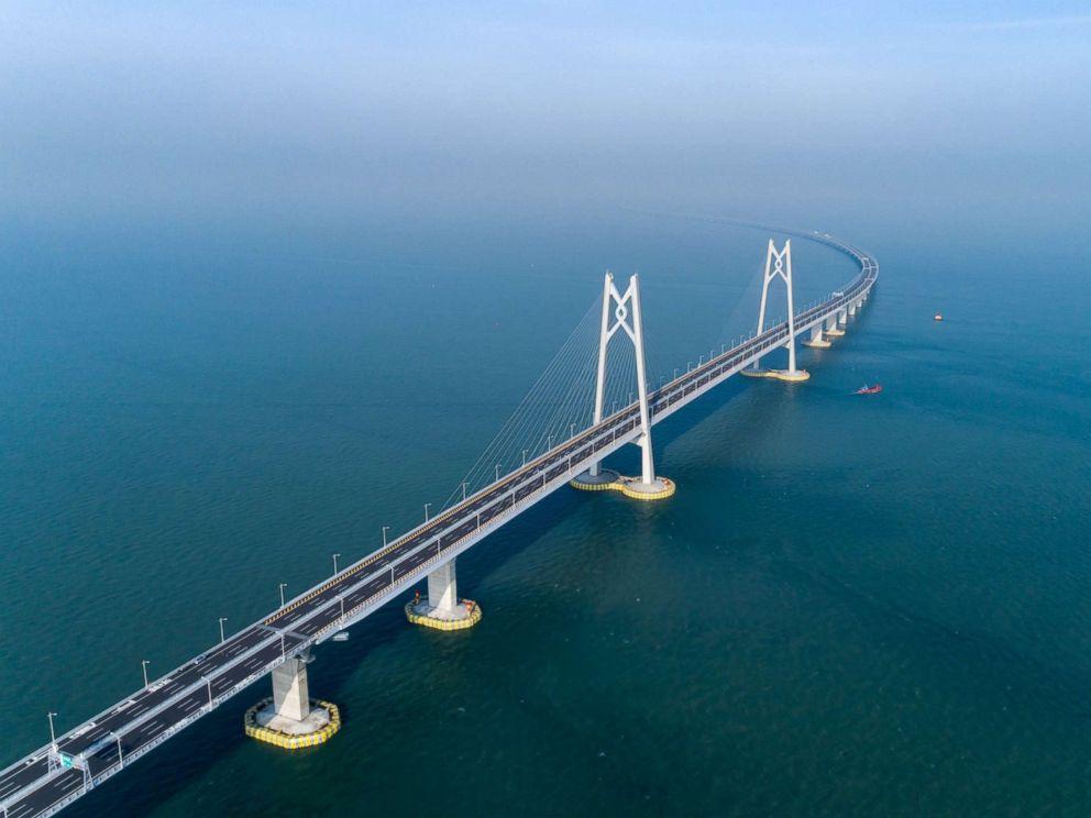 PHOTO: Aerial view of Hong Kong-Zhuhai-Macau Bridge, June 11, 2018, in Zhuhai, Guangdong Province of China.