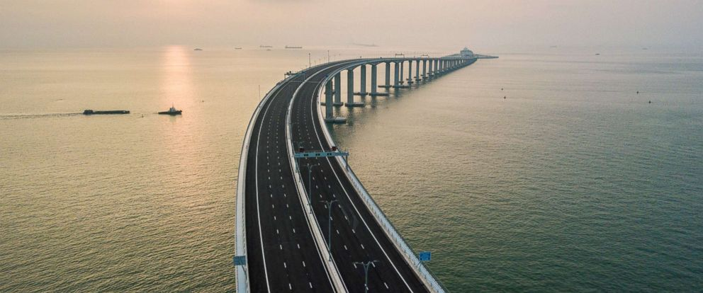 PHOTO: A section of the Hong Kong-Zhuhai-Macau Bridge (HKZM) in Hong Kong, Oct. 22, 2018.