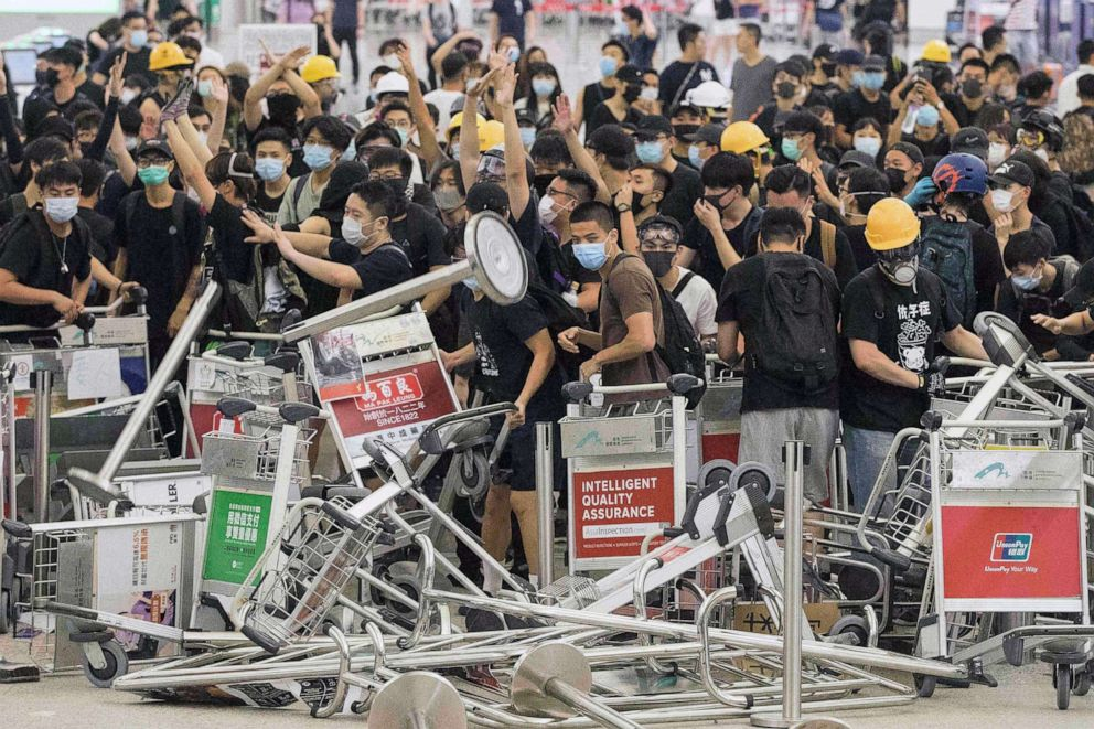 Hong Kong Airport Reopens After 2 Days Of Protests