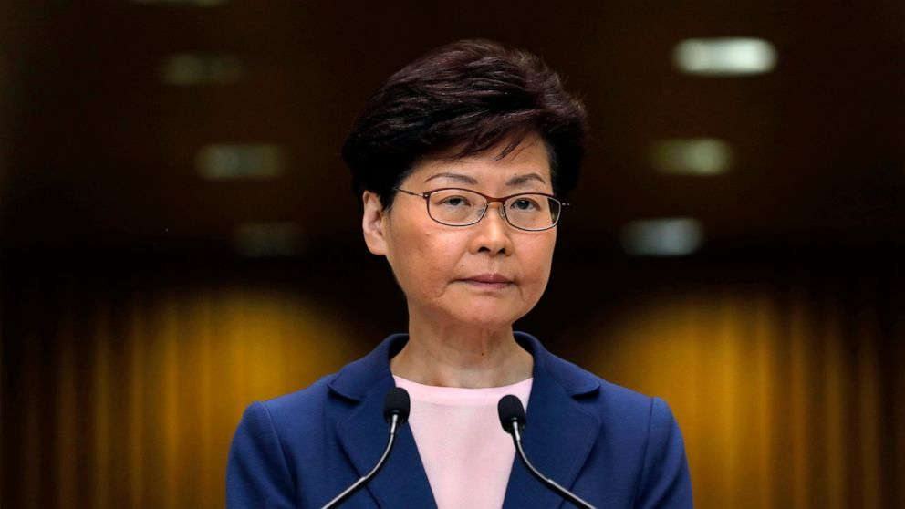 Hong Kong leader says extradition bill is 'dead' but doesn't formally withdraw it thumbnail