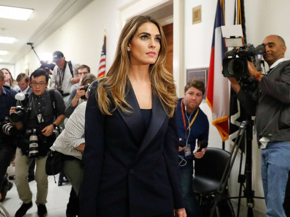 PHOTO: Former White House communications director Hope Hicks leaving a closed-door interview with the House Judiciary Committee for a lunch break, at the Capitol in Washington, June 19, 2019.