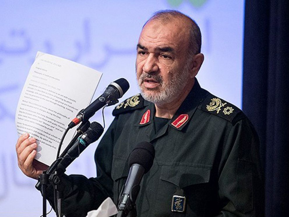 PHOTO: In this undated photo released by Sepahnews, the website of the Iranian Revolutionary Guard, Gen. Hossein Salami speaks in a meeting in Tehran, Iran.