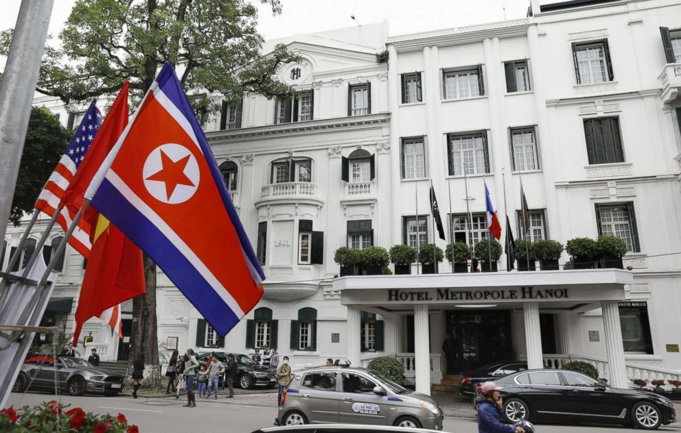 PHOTO: The Sofitel Legend Metropole Hanoi hotel ahead of the second summit between North Korean leader Kim Jong Un and President Donald Trump in Vietnam, Feb. 24, 2019.