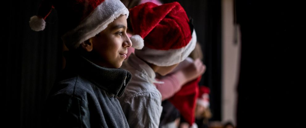 PHOTO: Basel Alrashdan, 11, a sixth grader at St. Jean Elementary School performs three songs for the annual concert in Charlottetown on Prince Edward Island, Canada, on Dec. 13, 2016.