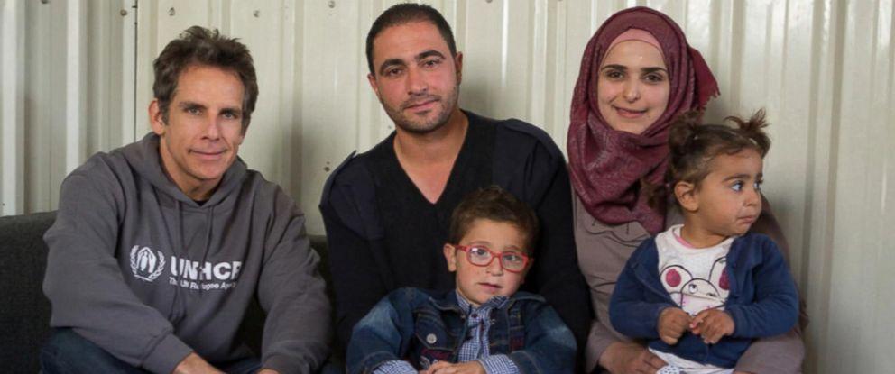 PHOTO: Ben Stiller visits Syrian refugees in Jordan.
