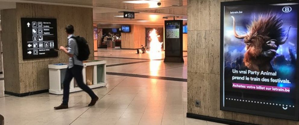 PHOTO: Remy Bonnaffe posted this image from the Brussels central train station on June 20, 2017.