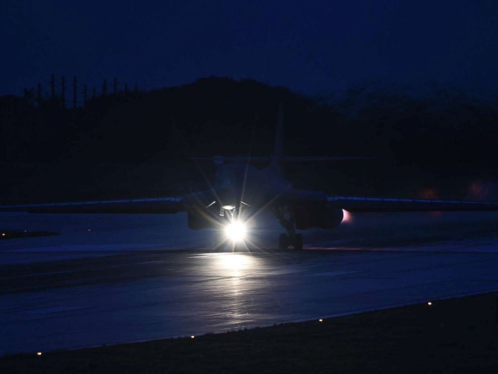 PHOTO: The first U.S.-Japan air forces nighttime training over the East China Sea, image released by the U.S Air Force, July 6, 2017.