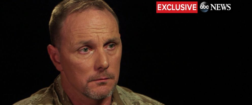 PHOTO: CIA contractor Brett Jones speaks to ABC News Brian Ross about harassment he said he suffered for being gay.