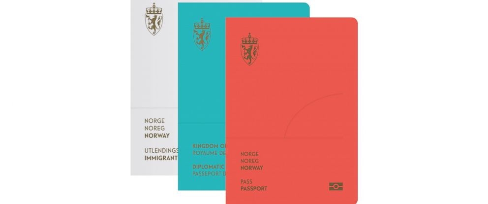 PHOTO: The Neue design studio in Norway recently won a contest to re-design the Norwegian passport.