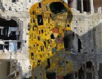 """PHOTO: """"Syrian Museum - Gustav Klimts The Kiss"""" is a piece of digital art created by Tammam Azzam, a Syrian artist who uses art to highlight the far-reaching violence and destruction of the ongoing Syrian war."""