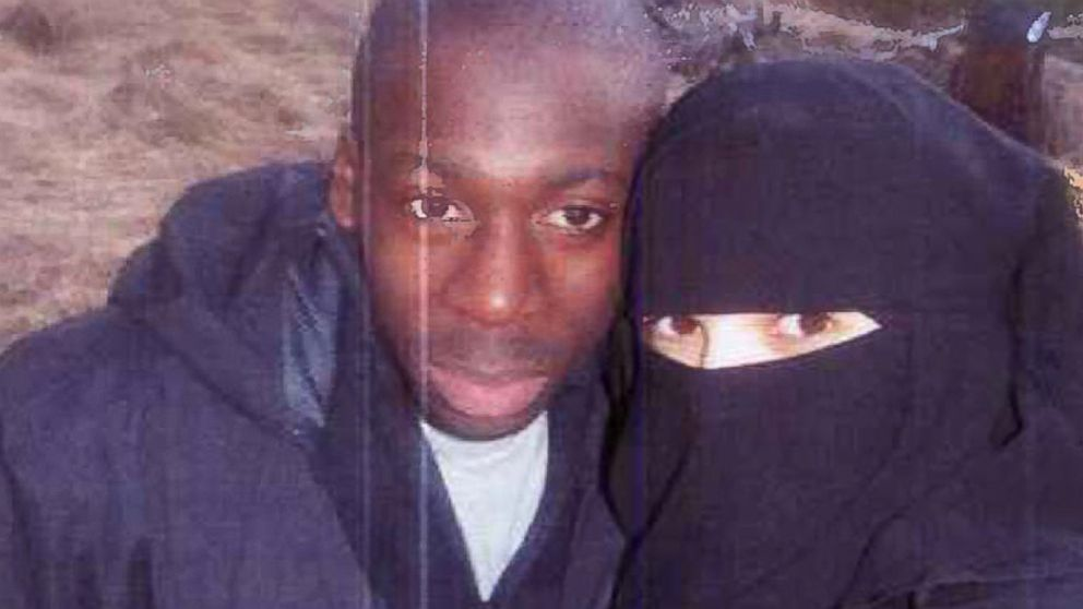 In this 2010 file photo, Hayat Boumeddiene and Amedy Coulibaly in the Grenoble area of France.