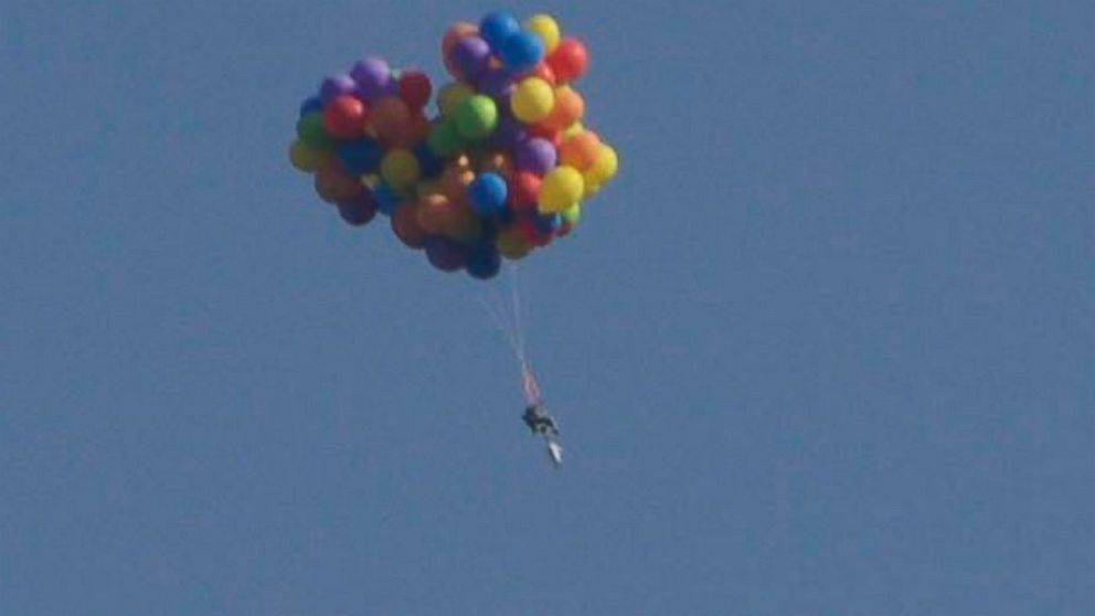 Canadian Man Arrested After Flying Lawn Chair With Helium Balloons, Police  Say   ABC News