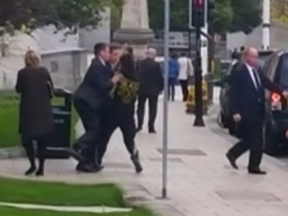 PHOTO: A man was briefly arrested in Leeds, England after accidentally running into Prime Minister David Cameron while on a jog.