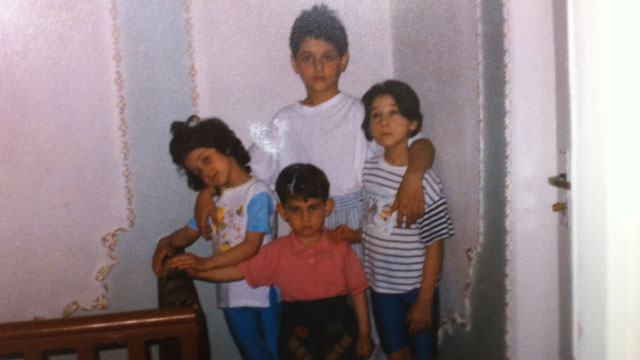 PHOTO:Sitting at her kitchen table, aunt Patemat Sulemanova cried softly as she showed ABC News photos of the two bombing suspects -- Tamerlan Tsarnaev and and Dhzokhar Tsarnaev when they were young boys. as they posed with their two sisters.