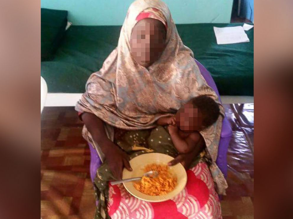PHOTO: The Nigerian Army released this photo of a woman who they say was one of the abducted Chibok school girls who was rescued on May 18, 2016 with a four-month-old baby girl.