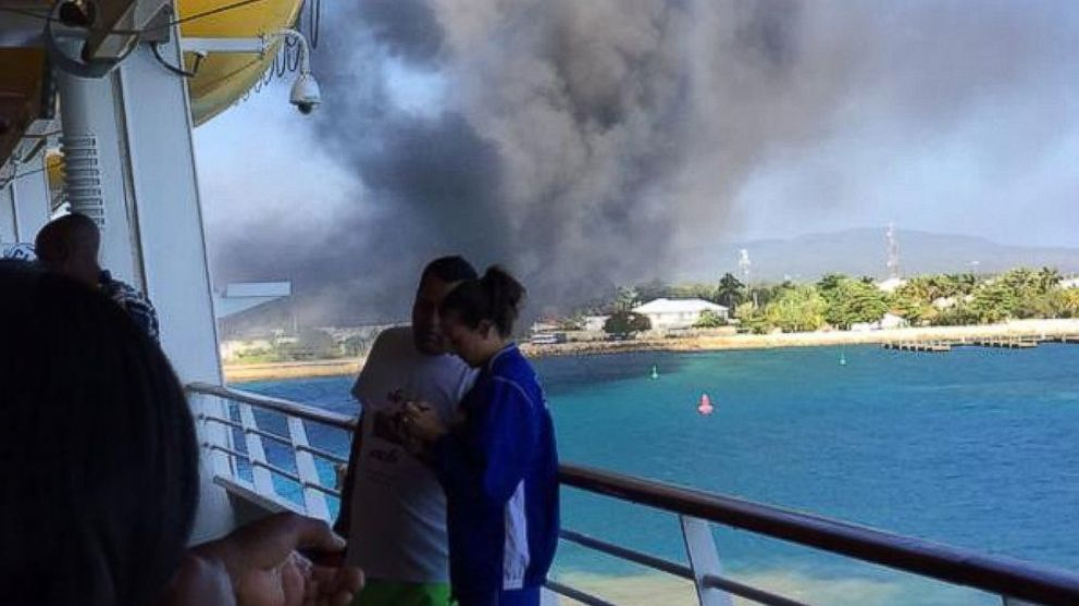 Royal Caribbean Cruise Ship Catches Fire MidTrip ABC News - Is there smoking on cruise ships
