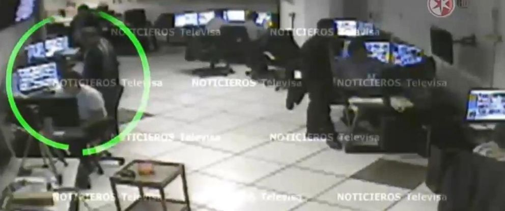 PHOTO: Surveillance footage of security guards.