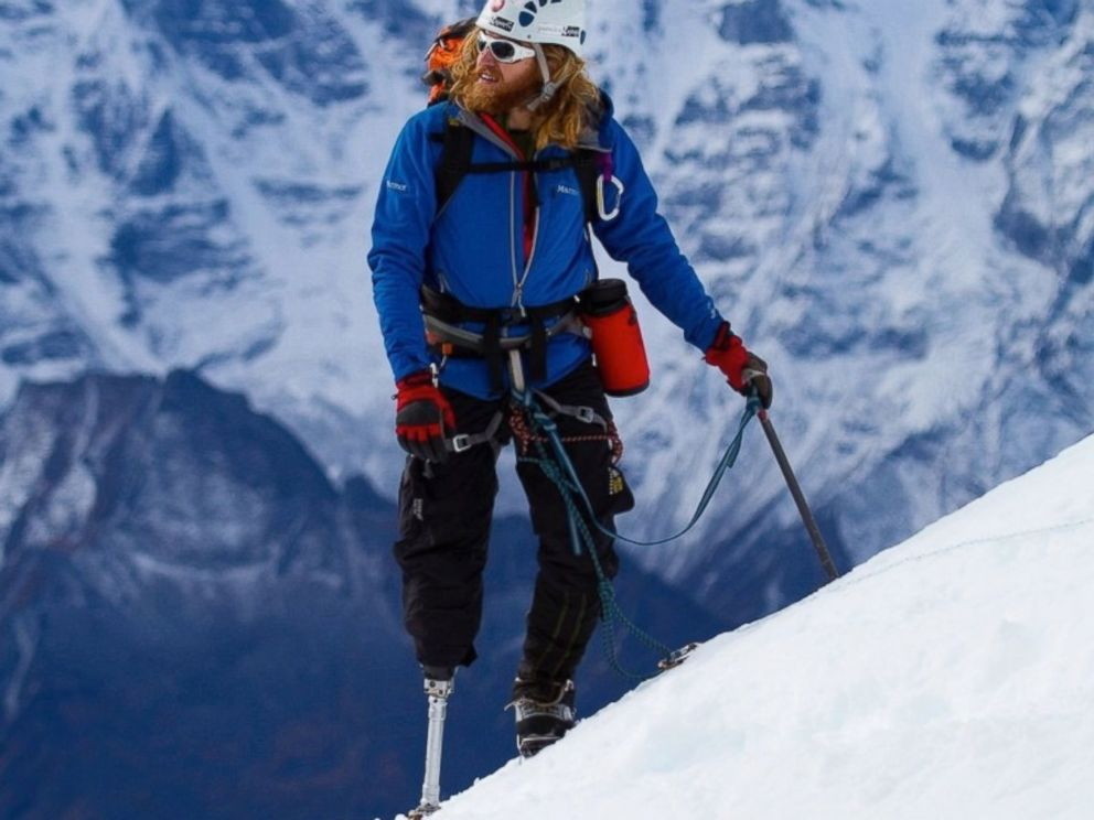 PHOTO: Retired Staff Sergeant Chad Jukes, who lost his right leg while serving as the lead gun truck commander on a supply convoy in northern Iraq, will be the first U.S. veteran to summit Mount Everest if USX expedition succeeds.