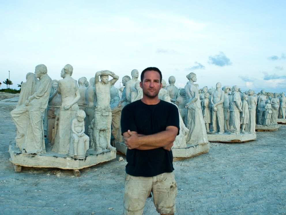 PHOTO: A portrait of Jason DeCaires Taylor with work he has created.